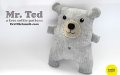 DIY Easy Teddy Bear - FREE Sewing Pattern and Tutorial