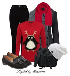 """""""Christmas Jumper Outfit"""" by mozeemo ❤ liked on Polyvore featuring EAST, Lands' End, Winser London, M&Co and John Lewis"""