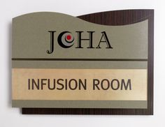 Fusion Interior Sign with insert done for Joliet Oncology Hematology.  #signage #wayfinding