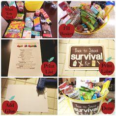 Back to School Survival Kit - Teacher Gift