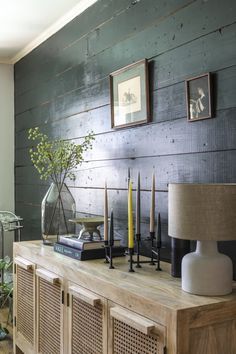 Exposed Wood Walls Give a Once-Basic Ranch House Fresh Farmhouse Vibes Painted Wood Walls, Rustic Wood Walls, White Wood Walls, Garage Guest House, White Bar Stools, Accent Walls In Living Room, Fresh Farmhouse, Ranch Style Homes, Wood Home Decor