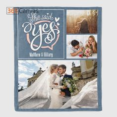 Commemorate one of life's most magical moments! You'll never forget the joyous day that she said yes! It will always be a great story for you to share. Whether you want a creative way to announce the news or to celebrate your anniversary, this she said yes blanket is heartwarming. #decor#blanket#couple#anniversarygift#anniversarygiftideas