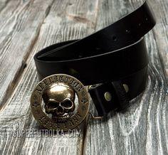 Мужской пояс AFFLICTION Skull RARE, код товара- 5140, цена: 175 $