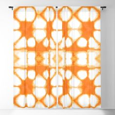 Buy Shibori Ahi Tangerine Blackout Curtain by ninamay. Worldwide shipping available at Society6.com. Just one of millions of high quality products available.