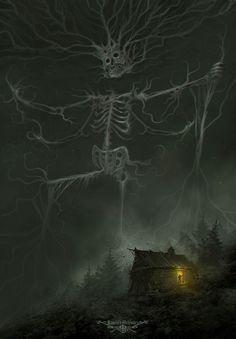 Nightmare Tales by Ramses Melendez Anubis, Dark Fantasy Art, Dark Art, Ramses, Sinners Prayer, Lovecraftian Horror, Creepy Art, Cemetery, Artwork