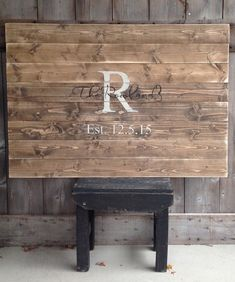 Guest Book Sign, Established Sign, The last name Sign, Rustic Sign, Rustic Decor, Rustic Wedding, Sign with Initial & Date, by SimplymadesignsbyB on Etsy