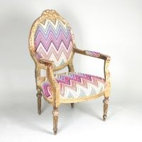 These would be a beautiful pair in a Victorian Interior 19th century France meets Missoni fabric