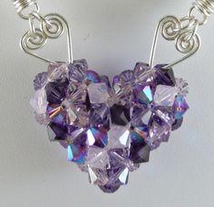 Purple Heart - Jewelry creation by Madalynne Homme