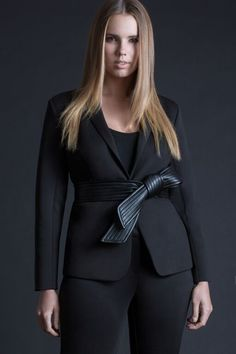 Neoprene Blazer   Women's Plus Size Suits   ELOQUII