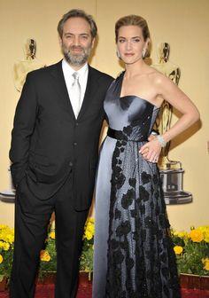 """Pin for Later: Croyez Le ou Non, Ces Célébrités Ont Déjà Été Mariées  Kate Winslet a dit """"oui"""" au réalisateur Sam Mendes en Mai 2003. Le couple a eu un fils, Joe, mais a fini par divorcer en Mars 2010."""