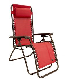 Loving this Red Gravity-Free Lounger & Pillow on #zulily! #zulilyfinds