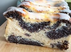Poppy Seed Cheesecake (without base) Sweet Recipes, Cake Recipes, Dessert Recipes, Polish Cake Recipe, Baklava Cheesecake, Yummy Drinks, Yummy Food, Russian Desserts, Breakfast Menu