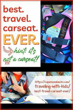 Looking for a new carseat that's friendly to everything from airline travel to carpools? Here's my pick for the best travel carseat EVER. Best Travel Carseat Ever (Hint: it's not a carseat!) - SuperMomHacks | travel car seat for 3 year old | best travel car seats for 3 year old | best car seat to travel with | travel car seat booster | travel with car seat | travel car seat bag | travel car seat cart | travel car seat lightweight | travel car seat vest | how to fly with a car seat Road Trip With Kids, Travel With Kids, Family Travel, Mom Hacks, Baby Hacks, Road Trip Hacks, Road Trips, Car Seat Travel Bag, Best Car Seats