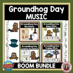 Help your students improve their music theory knowledge and understanding in a fun, engaging and interactive way! This GROUNDHOG DAY themed bundle contains FOUR BOOM card decks: 1. Complete the measure/bar 2. Match the rhythm to the word/phrase 3. Treble note recognition 4. Bass note recognition ♫ ♫ #musiceducation #musicteacherresources #mtr #boomcardsformusic #boomcards Music Teacher Resources Groundhog Day, Music Theory, Deck Of Cards, Knowledge, Student, Words, Fun, Horse, Hilarious
