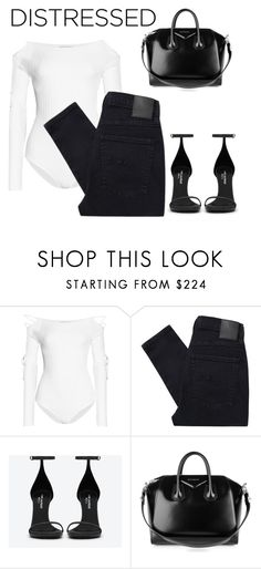 """""""Laura"""" by pinkgirlfloyd ❤ liked on Polyvore featuring Cushnie Et Ochs, Nobody Denim, Yves Saint Laurent and Givenchy"""