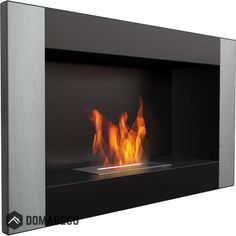 Georgia Black VERTICAL wall mounted bioethanol fireplace silver sunnydaze modern style fireplace for your home Biofuel Fireplace, Bioethanol Fireplace, Fire Inserts, Portal, Bio Ethanol, Wall Mounted Fireplace, Georgia, External Doors, High Quality Furniture