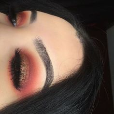 Burnt orange eyeshadow