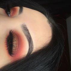 Burnt orange eyeshadow