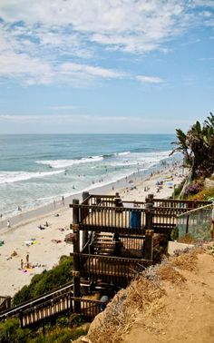 looks like Carlsbad State Beach in California. been down these steps many times. LOVE this beach! Carlsbad California, California Dreamin', Carlsbad Beach, Legoland California, The Places Youll Go, Places To See, Sta Monica, Hollywood, Vacation Spots