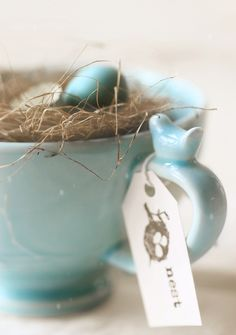 Nest ~ Sweet décor for Spring Happy Easter, Easter Bunny, Easter Eggs, Pot Pourri, Easter Celebration, Design Seeds, Paperclay, Robins Egg, Duck Egg Blue