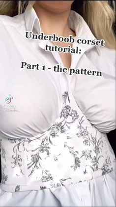 Corset Sewing Pattern, Dress Sewing Patterns, Clothing Patterns, Diy Corset, Diy Clothes Design, Diy Fashion Hacks, How To Make Clothes, Clothing Hacks, Sewing Basics
