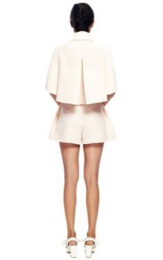 Pleated Sleeve Jacket by DELPOZO for Preorder on Moda Operandi