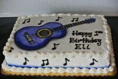 Eli's Rockstar Cake! First birthday