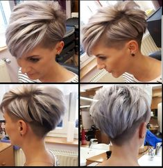 Today we have the most stylish 86 Cute Short Pixie Haircuts. We claim that you have never seen such elegant and eye-catching short hairstyles before. Pixie haircut, of course, offers a lot of options for the hair of the ladies'… Continue Reading → Short Hair Undercut, Short Pixie Haircuts, Short Hairstyles For Women, Cool Hairstyles, Haircut Short, Hairstyle Ideas, Pixie Cut With Undercut, Hairstyles Haircuts, Pixie Haircut For Thick Hair