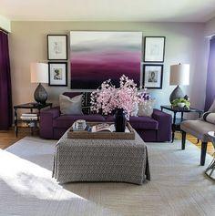 Décor de votre salon avec des reflets violets!! ~ Décor de Maison / Décoration Chambre