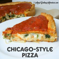 Chicago Style Pizza on MyRecipeMagic.com #pizza #chicagostyle