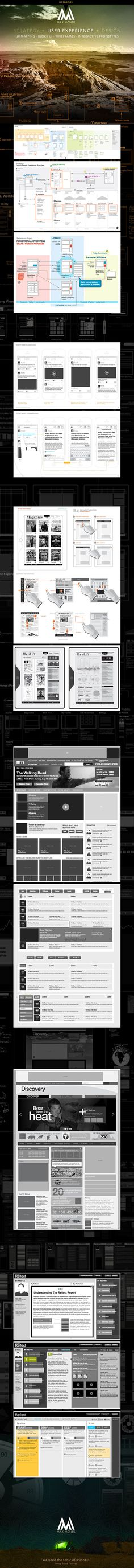 UX Samples (LinkedIn) by Max McNeil, via Behance