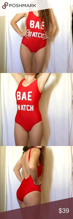 Red Bay Watch Rave One Piece Swimsuit/Bodysuit Summer, Rave & Festival season is here! Time to stock those wardrobes accordingly. This Bay Watch One Piece Red Bodysuit is perfect for your next festival or pool party! Just in time to rock this look like the stars of Bay Watch the movie. Look great sipping a cocktail poolside in Vegas or super sexy & on trend at the beach! Can be worn in water. Gentle wash & let air dry. You'll grab everyone's attention with this beautiful, sexy & totally…