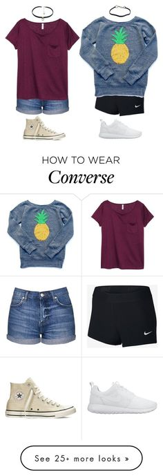 """""""Left or right?"""" by toty1008 on Polyvore featuring Topshop, H&M, NIKE, Converse and Prada"""