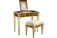 M-1546-401-VOU Aubin Vanity and Stool by French Heritage