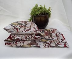 Handmade Herbal Heat and Cold Therapy Pack. Made with 100% Organic brown flax seeds for comfort and heat/cold retention, herbal blend and fabric pattern of your choice. Large and durable. Made with love and light