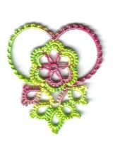 Tatting. I can't decide if it's a heart, flower, or butterfly lol ~ ! ~