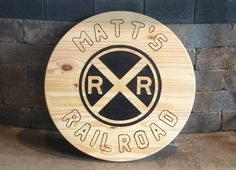 This is a customized photography sign made here in the United States these hand made signs are available from MD Trains cost for s generic 18 inch sign is 85.00 one customized like above runs 97.00 and is 24 inches round if intrested message me or email matt@mdtrains.com Train Decorations, Trains, United States, Signs, Handmade, Photography, Photograph, Novelty Signs, Photography Business