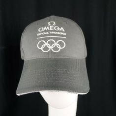 big sale 01868 772e4 OMEGA Olympic Low Profile Grey Hat Adjustable Official Timekeeper  Embroidered  OMEGA  BaseballCap