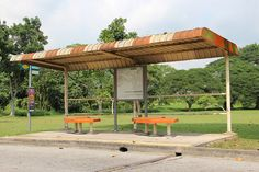 Old Singapore bus stop