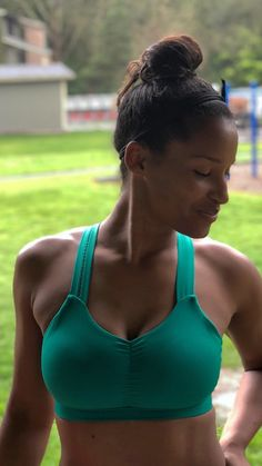 16c6b47fa5ac3 AmBADASSador Keli Simlesa rocking the Handful Y-Back Bra in  Get After It  Green