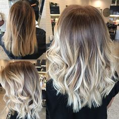 Before and after balayage and babylights