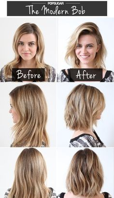 Modern Bob: Short Haircuts Before After