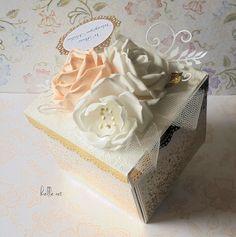 belle art, foamiran, exploding box, basket, flowers, wedding