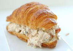 Sandwich RECIPES AND IMAGES | Tuna Salad Croissants: easy lunch or snack | Cooking at Home, Family ...