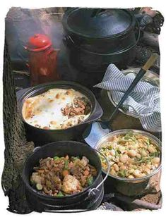 Potjiekos (pot food) is a yummy South African stew that is traditionally prepared outside. Read Recipe by South African Dishes, South African Recipes, Ethnic Recipes, Braai Recipes, Cooking Recipes, Oven Cooking, Cooking Oil, Beef Recipes, African Stew
