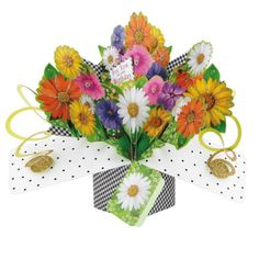 Save the need for a bouquet when you send someone this amazing Flowers For You Pop Up Birthday Card. Celebrate any birthday by sending this unique Pop Up Birthday Card. Pop Up Greeting Cards, Pop Up Cards, Birthday Greeting Cards, Birthday Greetings, 3d Birthday Card, Happy Birthday Baby, Birthday Letters, Unique Birthday Gifts, Unique Gifts For Her