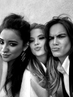 Pretty Little Liars! Shay Mitchell, Ashley Benson, and Tyler Blackburn!