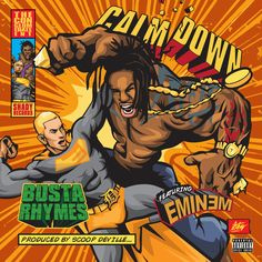 """Busta Rhymes connects with Eminem for his new single """"Calm Down"""" produced by Scoop Deville. Purchase on iTunes. Previously: Busta Rhymes, O. Genasis & J-Doe – Fight Night Freestyle New Eminem, Eminem Lyrics, Eminem 2017, Shady Records, Vinyl Store, Busta Rhymes, Rhymes Songs, Album Sales, Lana Del Rey"""