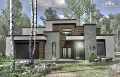 Awesome Small Contemporary House Designs Ideas To Try 16 Sims 4 Modern House, Modern Family House, Modern Bungalow House, Modern House Design, Casas The Sims 4, Contemporary House Plans, Modern Home Plans, Home Design Plans, Dream House Exterior