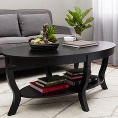 Lewis Distressed Black Coffee Table